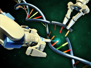 La edición del genoma utiliza máquinas de proteínas para cortar el ADN en lugares precisos. Sin embargo, usarlo para editar genes en las células cerebrales es complicado y arriesgado. Y en realidad no usa brazos robóticos.